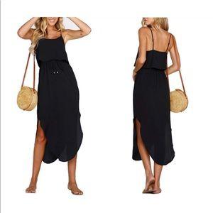 Dresses & Skirts - Strappy Split Midi Dress